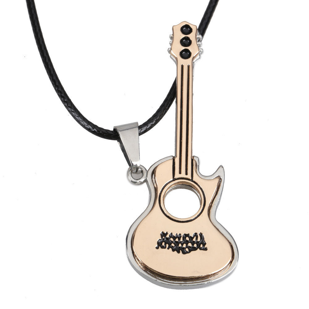 New Lovely Guitar Pendant Necklace Boy Girl Jewelry Unisex Titanium Steel Free Shipping DM#6 - 10MINUS: Online Shopping Destination with High-Quality