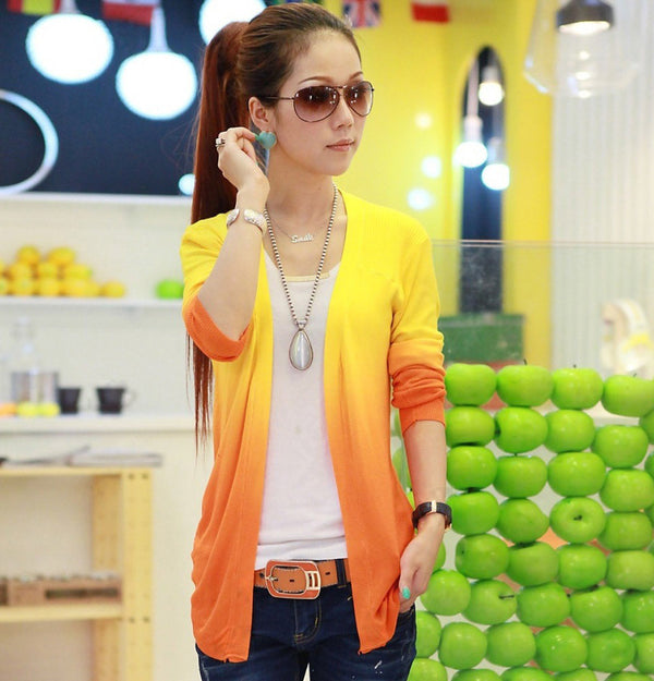 New Spring Sweet Candy Color Knit Shirt Women Wild Slim Sweaters Cardigans Show Thin Lady Knitted Cardigan tops Women G1075 - Best price in 10minus