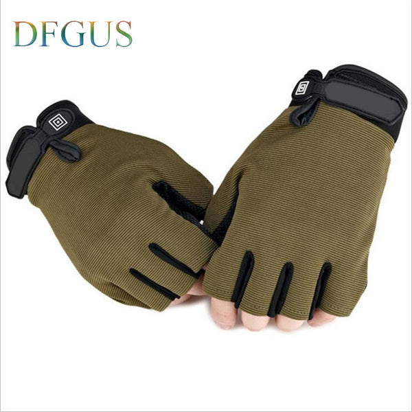 New US Army Tactical Gloves Outdoor Sports Original logo half finger Combat Gym Glove Slip-resistant Carbon Fiber Mittens - Best price in 10minus