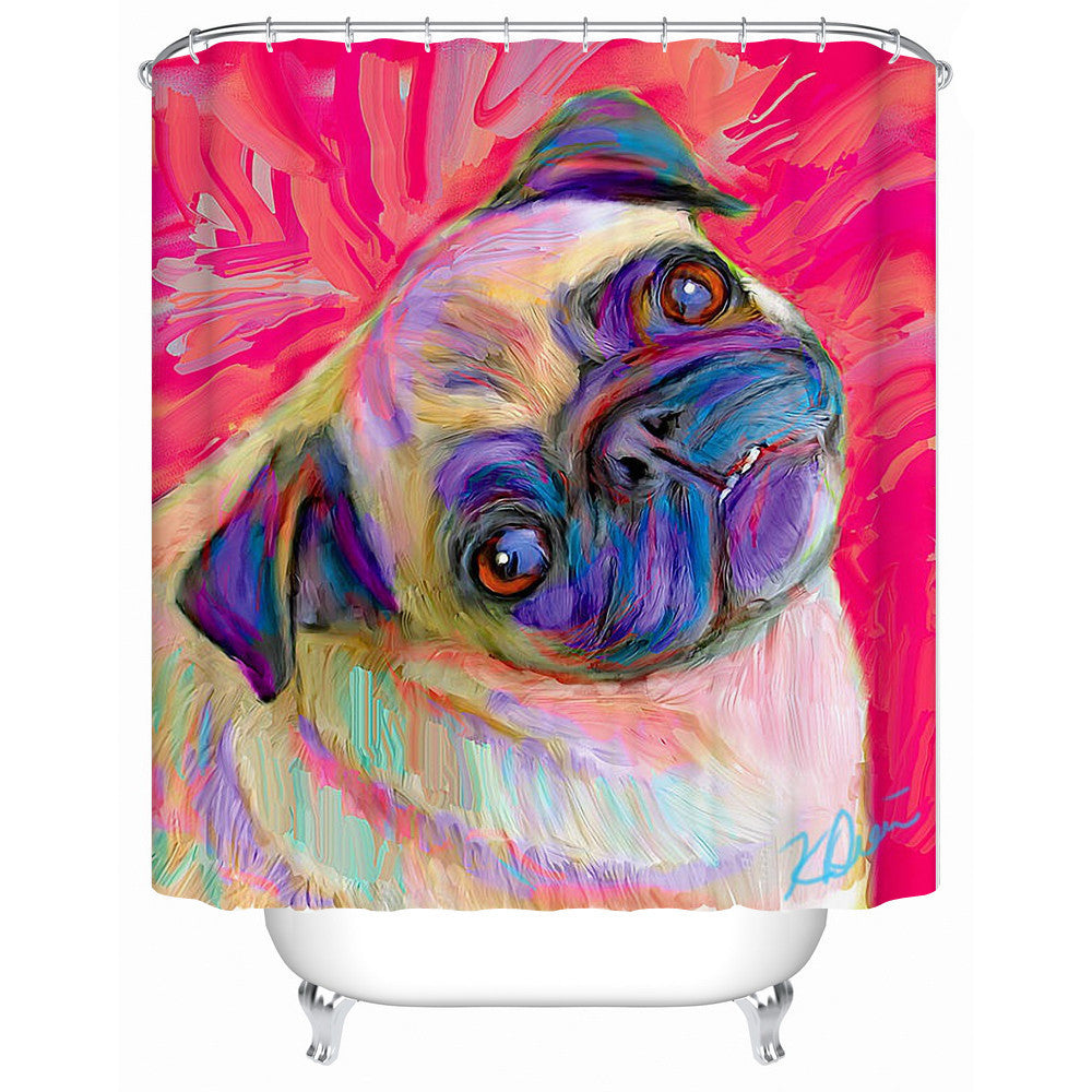 New Waterproof Shower Curtain Bathroom Curtain Colored Horse Eco-Friendly Fabric-shower-curtain Accept Custom Y-055 - 10MINUS: Online Shopping Destination with High-Quality
