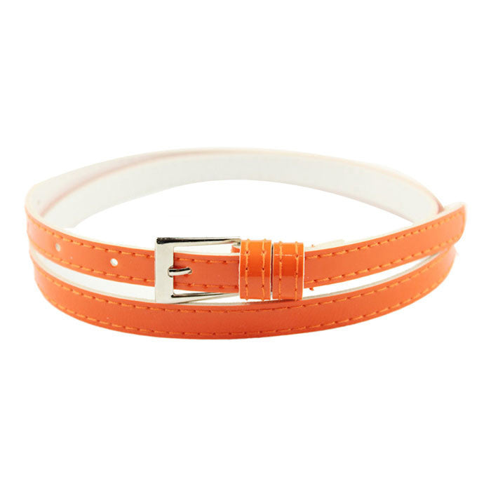 2016 NEW Hot Beautiful Woman Multicolor Small Candy Color Thin PU Leather Belt Ms Belt - 10MINUS: Online Shopping Destination with High-Quality