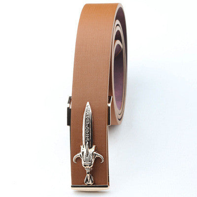 Fashion Men's belt leather metal Knife belt for men Dragon copper sword belt knife wild personality men's gift - 10MINUS: Online Shopping Destination with High-Quality