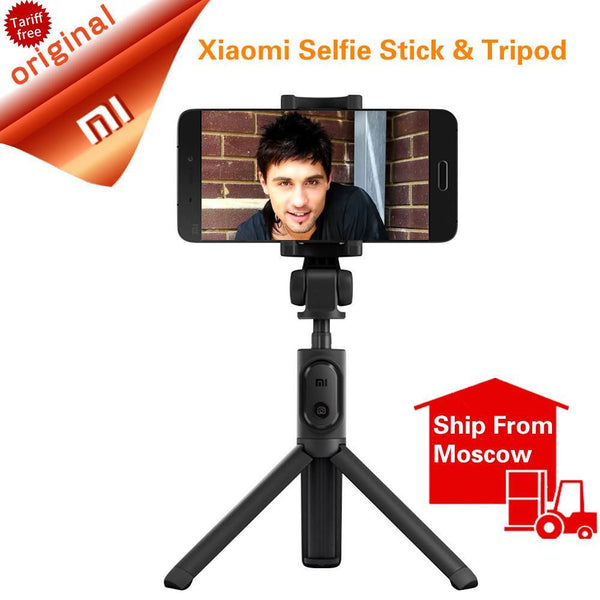 Original Xiaomi Foldable Tripod Selfie Stick Bluetooth Selfiestick With Wireless Shutter Selfie Stick For iPhone Android Xiaomi - Best price in 10minus