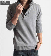 2015 Fall New Men's Fashion knitted Cashmere sweater double collar jumper Sweaters pullovers Knitting shirts for Men Asia S-XXL - 10MINUS: Online Shopping Destination with High-Quality