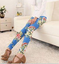 18 Hot High Elastic Design Vintage graffiti Leggings Floral patterned Print Leggins For Women Free Shipping Leggins Sale - 10MINUS: Online Shopping Destination with High-Quality