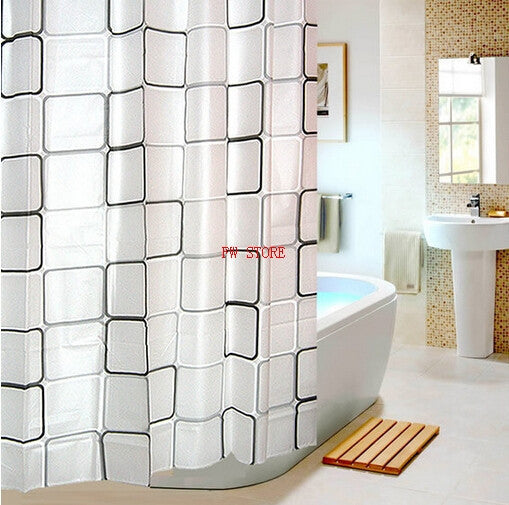10 MINUS PEVA Bathroom Shower Curtains Water Proof  Bath Curtain Plaid Pattern PEVA Bathroom Shower Curtains Water Proof  Bath Curtain Plaid Pattern PEVA Bathroom Shower Curtains Water Proof  Bath Curtain Plaid Pattern