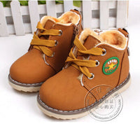 new children's snow boots warm shoes for boys and girls thick cotton-padded ace-up boots comfort baby shoes Size 21-30 - 10MINUS: Online Shopping Destination with High-Quality