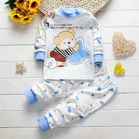 BibiCola 2017 Newborn baby Girl boys Sleep wear clothing Set children Pajamas Long johns kids Cotton autumn winter Underwear - 10MINUS: Online Shopping Destination with High-Quality