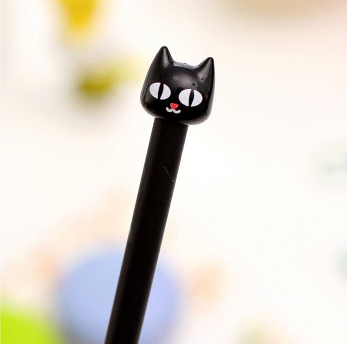 1 pcs/lot Cute Cartoon Kawaii Plastic Black Cat Gel pen for Kids Student Children Korean Stationery Free shipping 549 - 10MINUS: Online Shopping Destination with High-Quality