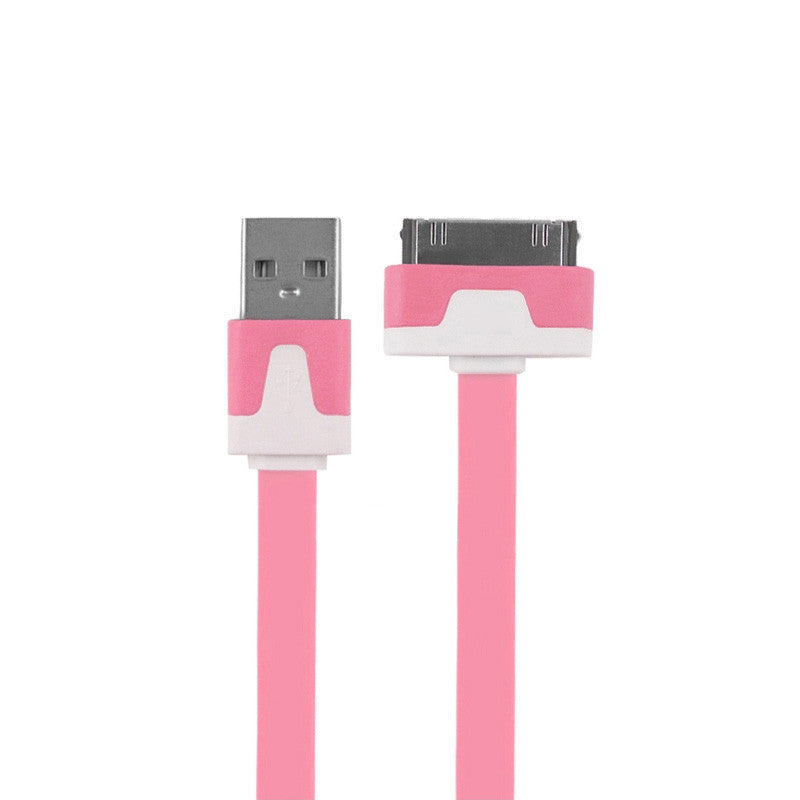 1m 2m 3m Noodles Micro USB Sync Data Charging Charger Cable Cord for Apple iPhone 4 4S iPad 2 3 Drop Shipping - Best price in 10minus