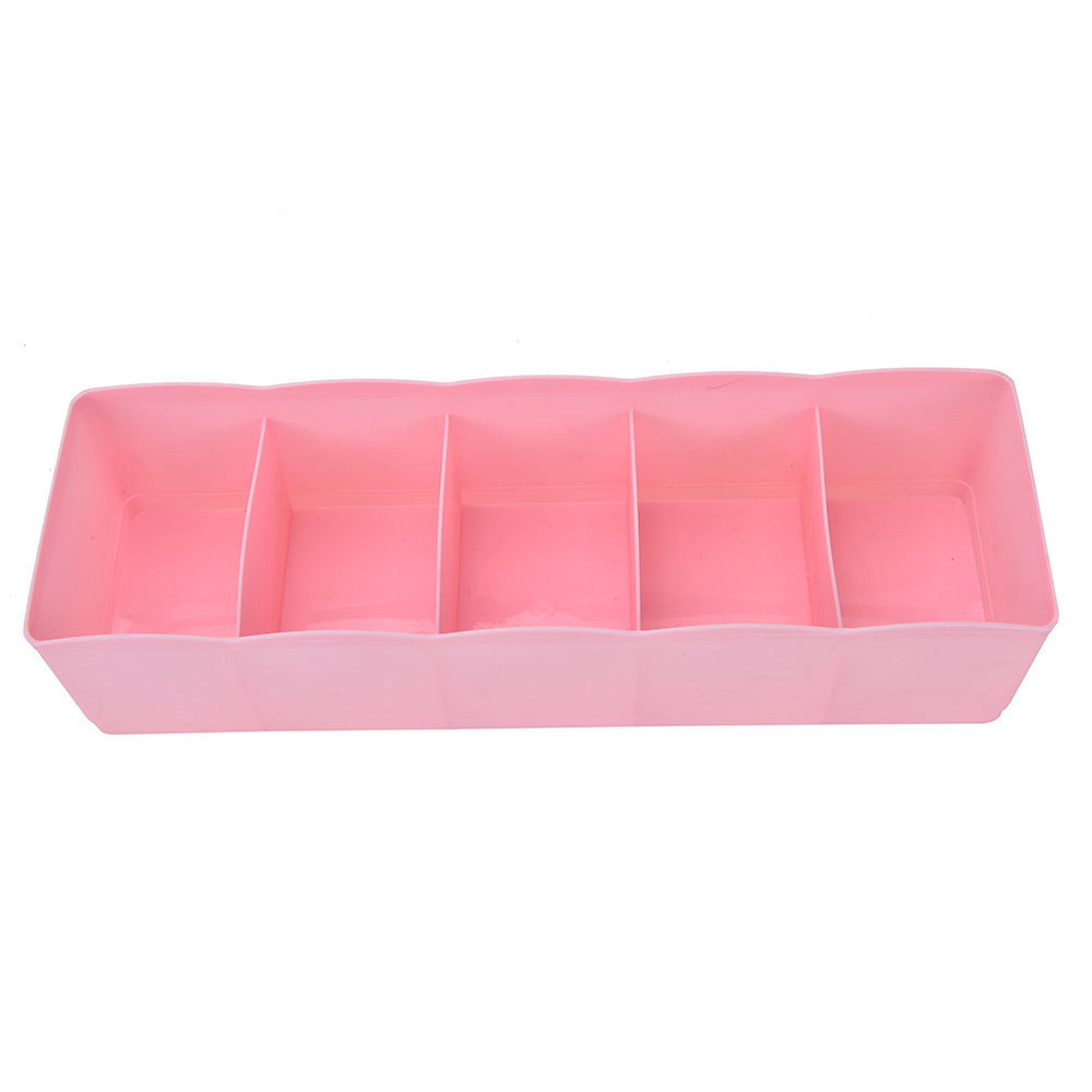 1PC 6 Colors Multi-function Desktop Drawer Clothing Storage Box Five Grid Storage Box Underwear Socks Bra Ties Organizer - Best price in 10minus