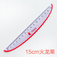 15cm Cute Kawaii Plastic Ruler Creative Fruit Ruler For Kids Student Novelty Item Korean Stationery Free Shipping 1607 - 10MINUS: Online Shopping Destination with High-Quality