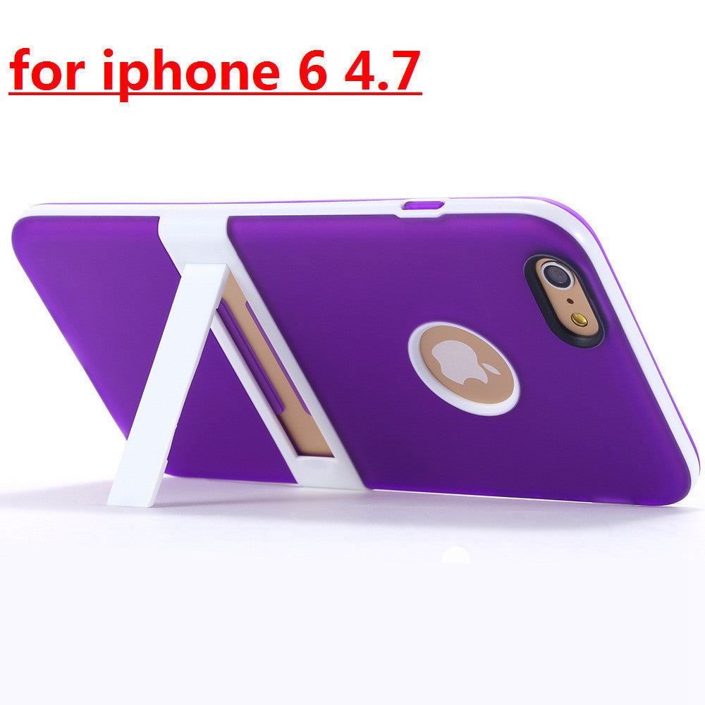 New Candy Color Kickstand Soft TPU Case For Apple iphone 6 6S 4.7 6 S Plus Ultrathin Lovely Back Cover hole Logo Body Stand Case - 10MINUS: Online Shopping Destination with High-Quality