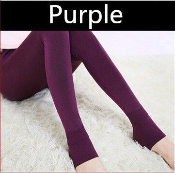 2016 Autumn-Winter Fashion 8 Colors S-XL Women Velvet Warm Leggings Cotton Elastic High Waist Thick Soild Leggings Legging Women - 10MINUS: Online Shopping Destination with High-Quality