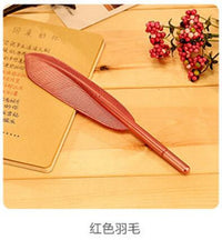 1pc 0.5mm black ink feather gel pen cute kawaii green gold red silver color gel pen school office supplies promotion gift - 10MINUS: Online Shopping Destination with High-Quality