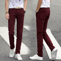 Free Shipping 2016 New Arrival Men Slim Fit Casual Pants Chinos Pantalones Mens Fashion Straight Skinny Trousers 13M0572 - 10MINUS: Online Shopping Destination with High-Quality