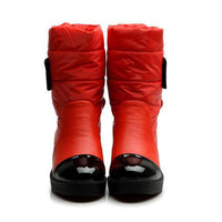 new fashion flats snow boots down warm ankle boots women fashion thick fur inside platform cotton shoes - 10MINUS: Online Shopping Destination with High-Quality