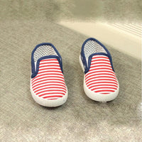 fashion style children shoes boys girls shoes classic stripe canvas shoes girls boys loafers girls boys casual shoes - 10MINUS: Online Shopping Destination with High-Quality