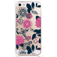 For Apple iPhone 5 5S SE Cases Soft TPU Flowers Friuts Girls lemon Painted Phone Bag Fundas Transparent Back Case Cover Capa - 10MINUS: Online Shopping Destination with High-Quality
