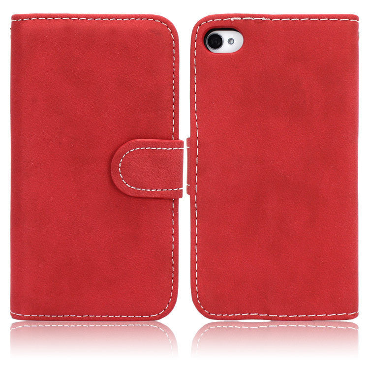 For iPhone 4 Cases High Quality Fashion PU Leather Case For Apple iPhone 4 4S Card Holder Wallet Phone Cover Bag Hard Back Case - Best price in 10minus