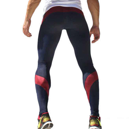 Mens Compression Track Pants High Stretch Mens Joggers Polyester Tights Men Pencil Pants Tracksuit Bottoms M-XL - Best price in 10minus