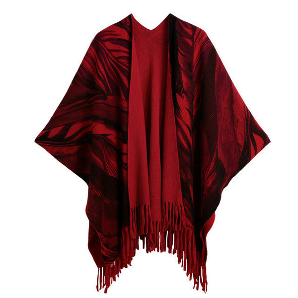 10 MINUS Red / One Size Autumn New Cardigan Women Winter Poncho Cape Top Tassel Fringed Cardigan Print Sweater Scarf Women Coat Red/Grey/Khaki Autumn New Cardigan Women Winter Poncho Cape Top Tassel Fringed Cardigan Print Sweater Scarf Women Coat Red/Grey/Khaki Autumn New Cardigan Women Winter Poncho Cape Top Tassel Fringed Cardigan Print Sweater Scarf Women Coat Red/Grey/Khaki Red / One Size