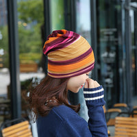 2016  korea design 3 Use Hat Knitted Scarf & Winter Hats for Women Striped Beanies Hip-hot  Skullies Girls Gorros lady Beanies - 10MINUS: Online Shopping Destination with High-Quality
