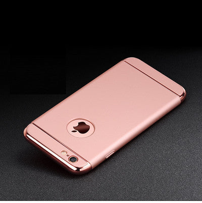Luxury Gold Hard Case For iphone 7 6 6S 5 5S SE Back Cover Coverage Removable 3 in 1 Fundas Case For iphone 6 6s Plus 7 Plus Bag - Best price in 10minus