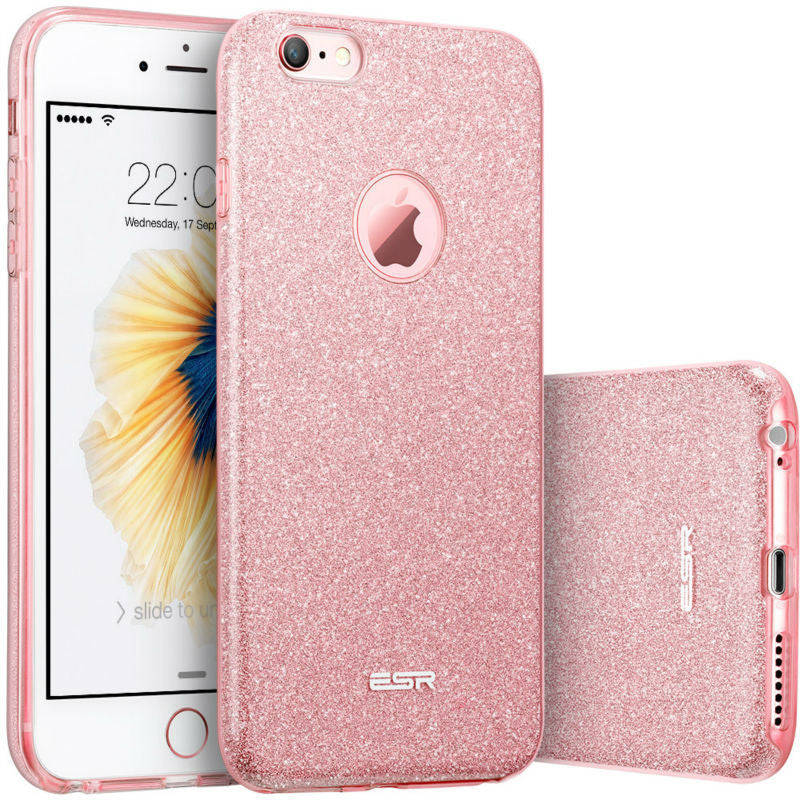 Case for  6s 6 Plus, ESR Hybrid three layer Soft TPU 3in1 Light Weight Girl Fashion Shining Cover Case for 6 6s Plus - 10MINUS: Online Shopping Destination with High-Quality