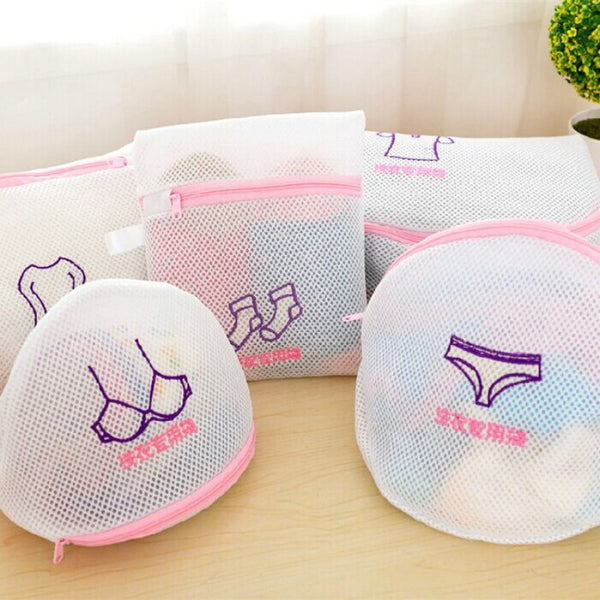 Shirt Sock Underwear Wash laundry Lingerie Protecting Mesh Bag basket Thickened Double Layer Zippered clothes storage Mesh Bag - Best price in 10minus