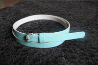 1pc Fashion Candy Color Women  Narrow Thin Skinny Waist Belt Pu Leather Waistband - 10MINUS: Online Shopping Destination with High-Quality