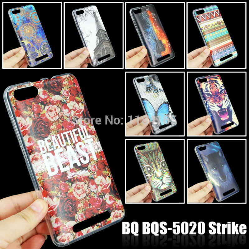 Soft TPU More Colorful Patterns Case for BQ BQS-5020 Strike 5 inch Skin Gel Soft Cover Cell Phone Accessories - Best price in 10minus