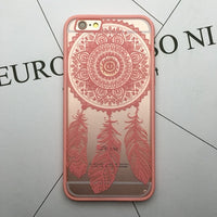 Floral Sexy Lace Mandala Case For iPhone 7 6 6S Plus Fashion Vintage Flower Clear Cover For iPhone 6 6S Plus Phone Capa Back - 10MINUS: Online Shopping Destination with High-Quality