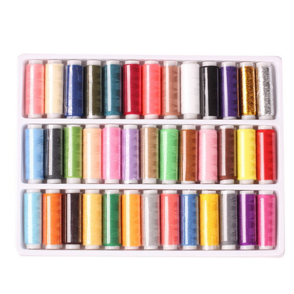 39-colors 402 Sewing Thread Yarn Strong And Durable Thread For Sewing Hand Sewing Machine Yarn knitting Accessories for Sewing - Best price in 10minus