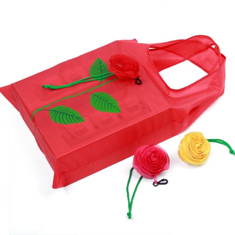 NEW Fashion Rose Flowers Reusable Folding Shopping Bag Tote Eco Storage Bags CN - 10MINUS: Online Shopping Destination with High-Quality