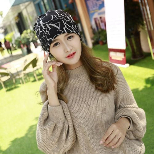 2016 New Fashion Lovely Women Chic Hip-Hop Winter Warm Soft Comfortable Cotton Knit Beanie Skull Cap Two In One Scarf Hat Hot - 10MINUS: Online Shopping Destination with High-Quality