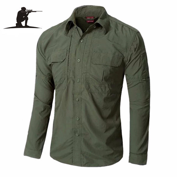Urban tactical shirt OD casual shirt fast quick drying casual breathable clothing US military clothing - Best price in 10minus