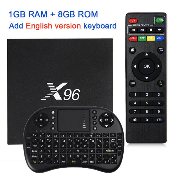 X96 Android 6.0 TV Box Amlogic S905X Max 2GB RAM+16GB ROM Quad Core WIFI HDMI 4K*2K HD Smart Set Top BOX Media Player PK A95X - 10MINUS: Online Shopping Destination with High-Quality