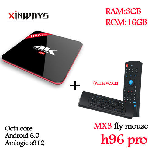 3/32GB smart tv box chirstmas Octa Core Android 6.0 2.4G/5.8GHz Wifi HD2.0 4k 2160p HDR 100/1000M BT4.0 KODI16.1 android tv box - 10MINUS: Online Shopping Destination with High-Quality