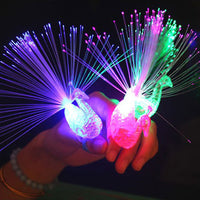 UTOYSLAND 1pcs Peacock Finger Light Colorful LED Light-up Rings Party Gadgets Kids Intelligent Toy for Party Gift - Color Random - 10MINUS: Online Shopping Destination with High-Quality