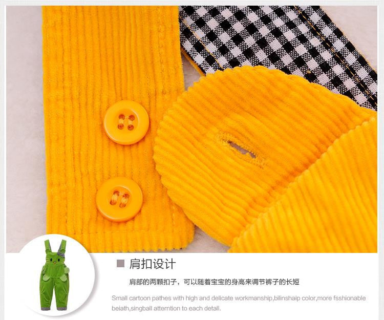 V-TREE Winter autumn cotton baby overalls corduroy overalls for children cartoon bib overalls boy girl clothing - Best price in 10minus