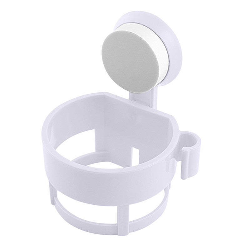 ABS Plastic Wall Mount Sucker Hair Dryer Holder Suction Cup Bathroom Shelves Bathroom Storage Accessories - Best price in 10minus