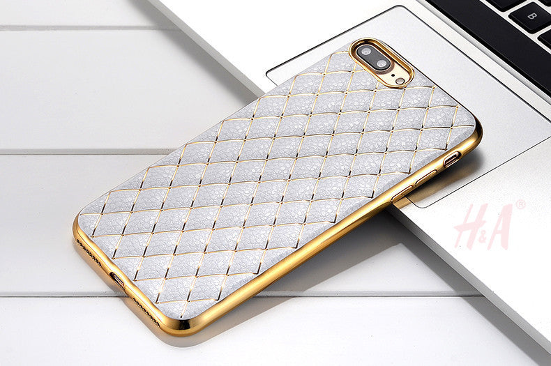 Luxury Ultra Thin Rhomboid Plating Electroplating TPU Soft Mobile Phone Case For iPhone 6 6s 7 7 Plus Cover Cases Capa Coque - Best price in 10minus