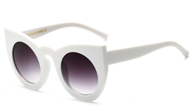 Peekaboo 2017 fashion sexy round cat eye sunglasses gradient white black big ladies sun glasses for women cat eye luxury oculos - 10MINUS: Online Shopping Destination with High-Quality