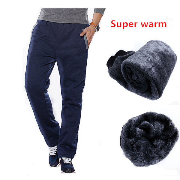 Winter Cotton Fleece Thicken Men's casual Pants Heavyweight Men's Trousers Winter Warm Slim Fitted Casual Active Sweatpants 3XL - Best price in 10minus