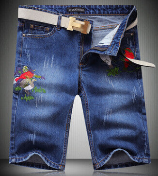 2016 New Designer Embroidery Mens Short High Quality Vintage Ripped Jeans Men Summer Style Denim Pants Men Brand Clothing 28-38 - 10MINUS: Online Shopping Destination with High-Quality