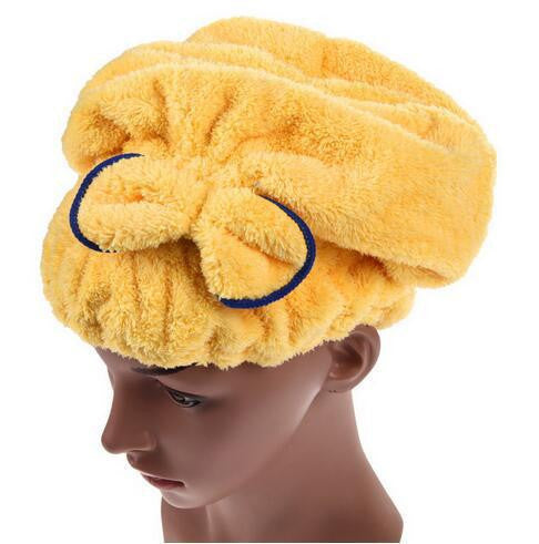 1PCS Home Textile Microfiber Solid Hair Turban Quickly Dry Hair Hat Wrapped Towel Bath 5 Colors Available - Best price in 10minus