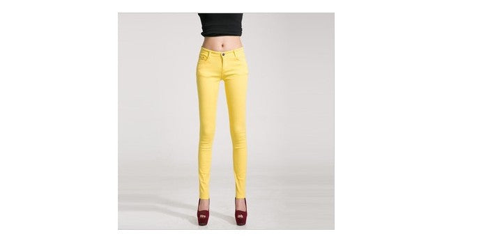 2016 new summer style women pants long desgin candy color slim fit pencil jeans female casual spring trousers for woman key013 - 10MINUS: Online Shopping Destination with High-Quality