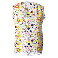 2016 New Shirt Women S-3XL O Neck Pullover Chiffon T Shirts Print floral Vest sleeveless Summer Female Tees Plus Size Tops S128 - 10MINUS: Online Shopping Destination with High-Quality