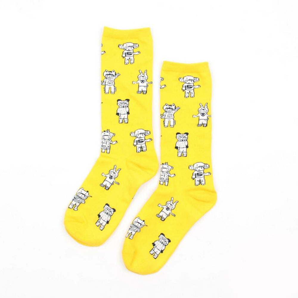 2016 Fashion Cotton Socks Men Cartoon Colorful Ptterns Men And Women Long Socks Christmas Socks 35-43 Size - 10MINUS: Online Shopping Destination with High-Quality